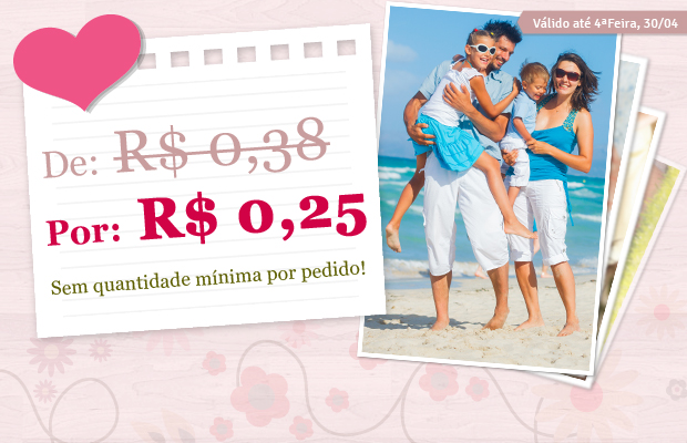 Fotos 10x15 com 34% OFF