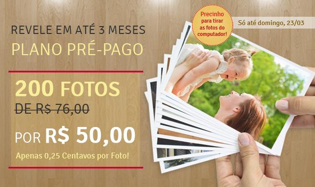 Planos Pré-pagos para Fotos 10x15