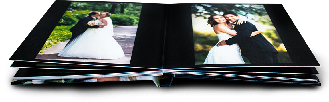 Photo book with  180º opening